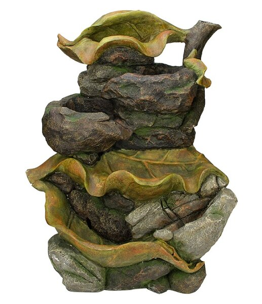 Resin/Fiberglass Water Fountain Outdoor Patio Garden Statue with LED Light by Northlight Seasonal