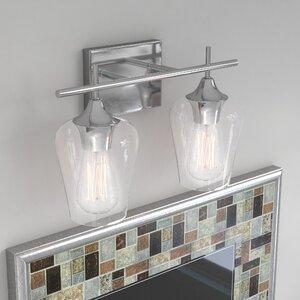 Bathroom vanity lighting youll love wayfair staci 2 light vanity light aloadofball Images