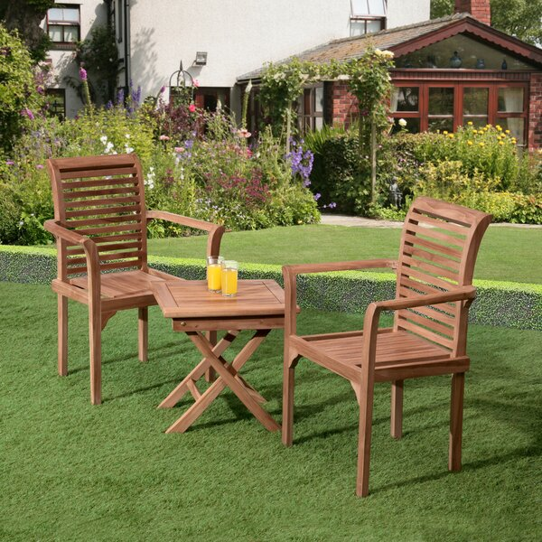 Reagle 3 Piece Teak Bistro Set by Loon Peak