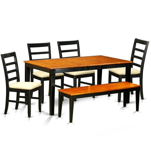 Cleobury 6 Piece Dining Set with Rectangular Table Top by August Grove