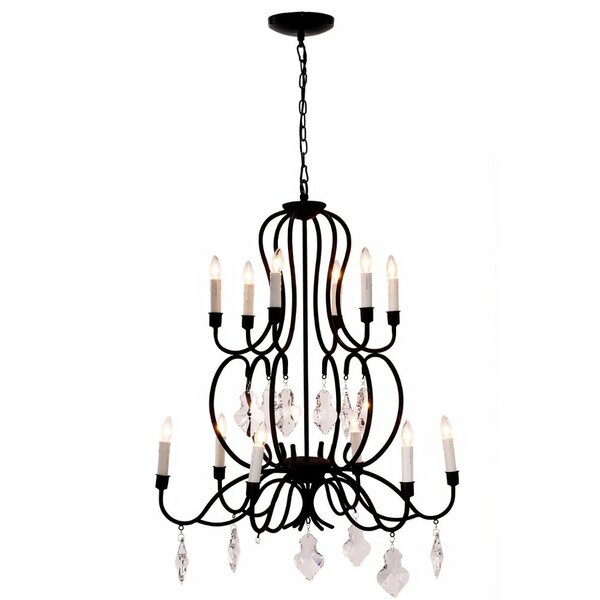 Honiton 12-Light Candle Style Tiered Chandelier By Rosdorf Park