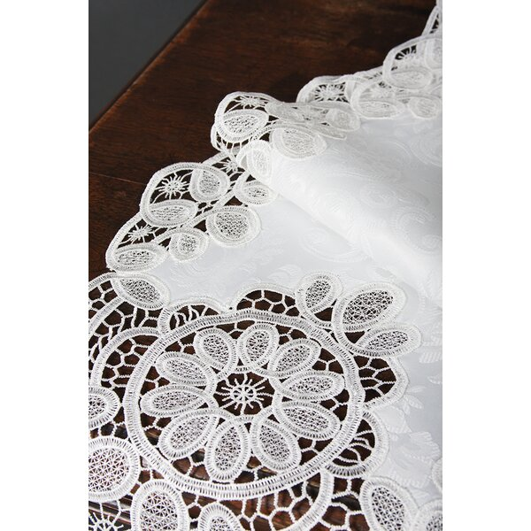 Christofer Lace Embroidered Cutwork Table Runner by One Allium Way