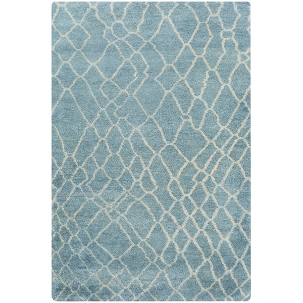 Somers Teal Area Rug by Rosecliff Heights