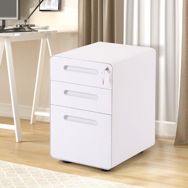 Akelius 3-Drawer Mobile Vertical Filing Cabinet