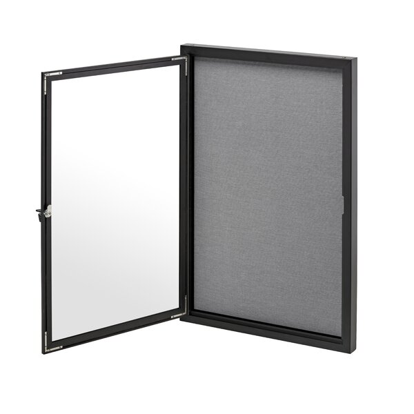 Single Door Enclosed Bulletin Board, 24 x 36 by AdirOffice