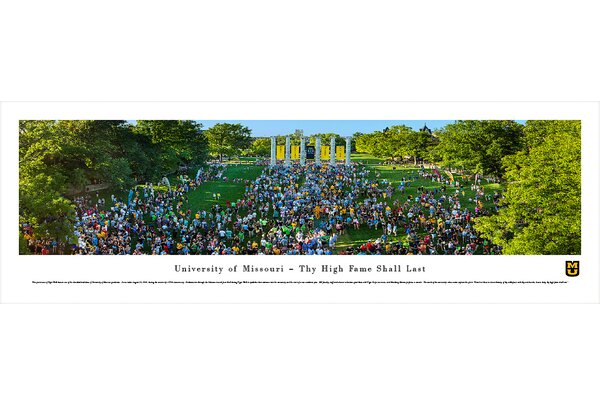 NCAA Missouri, University of - Tiger Walk Photographic Print by Blakeway Worldwide Panoramas, Inc