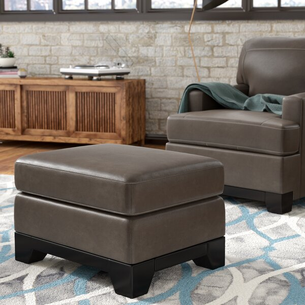 Sanil Leather Ottoman By Latitude Run