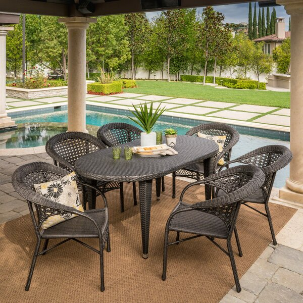 Kuzucuk 7 Piece Outdoor Dining Set by Bay Isle Home