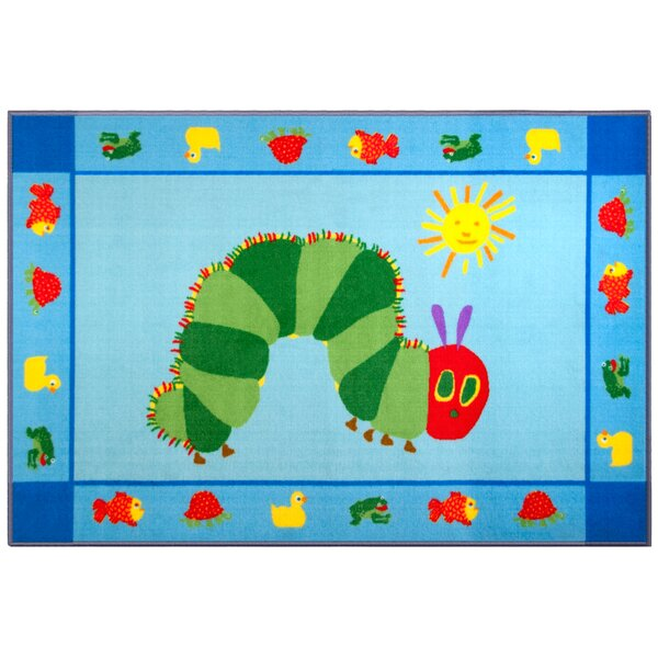 The Very Hungry Caterpillar Blue/Green Area Rug by Wildkin