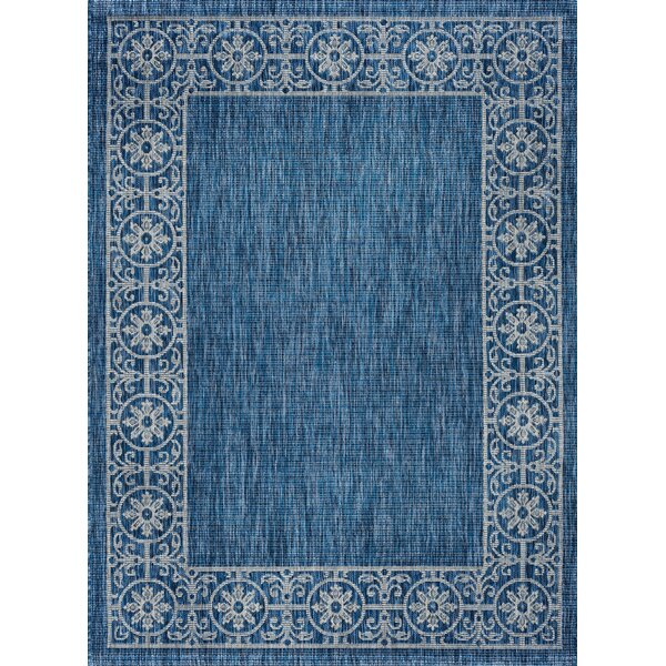 Mann Traditional Indigo Indoor/Outdoor Area Rug by World Menagerie