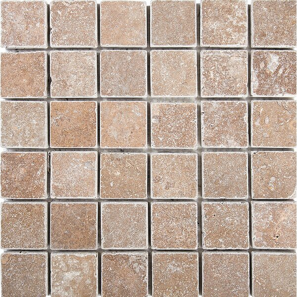Tumbled 2 x 2 Stone Mosaic Tile in Noce by Parvatile