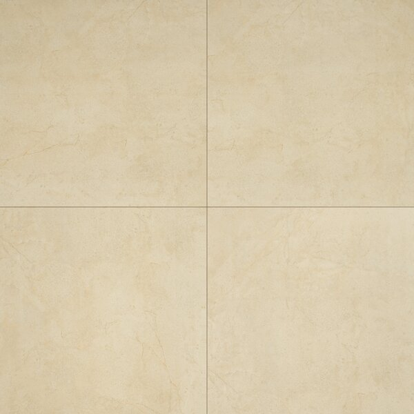Aria 24 x 24 Porcelain Tile in Glazed Natural Beige by MSI