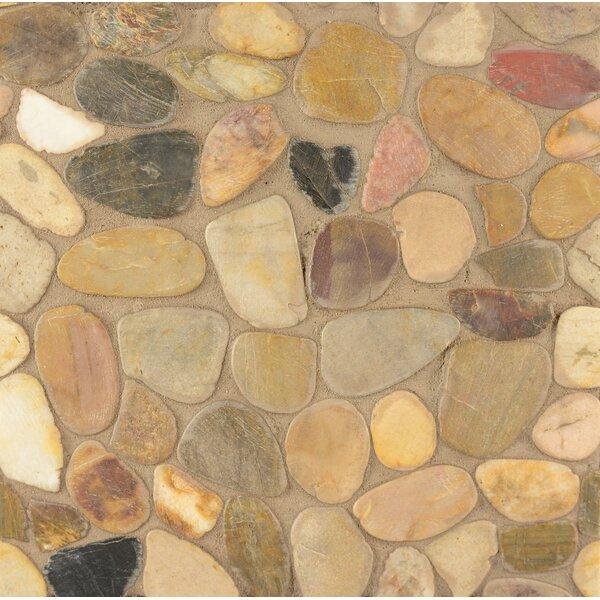 Pebble Rock Random Sized Stone Pebble Tile in Kona by Grayson Martin