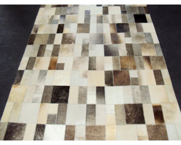Patchwork Disruption II Neutral Area Rug by Modern Rugs