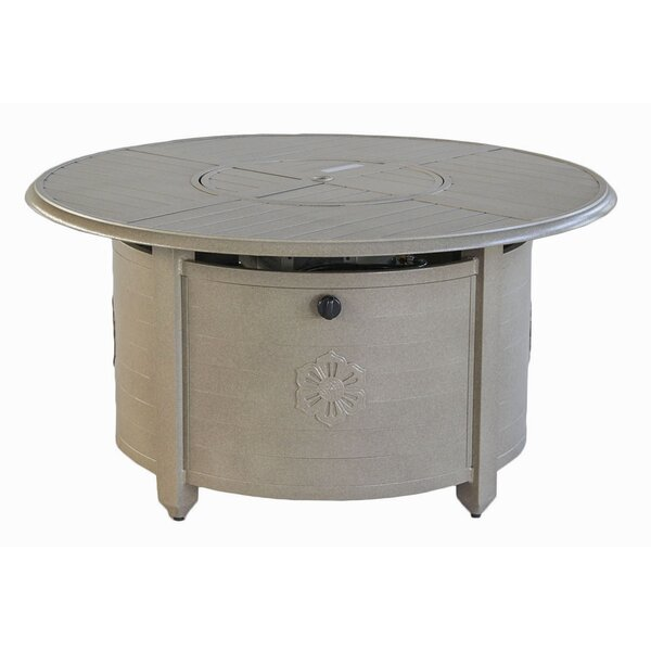 Naragansett Aluminum Propane Fire Pit Table by Beachcrest Home