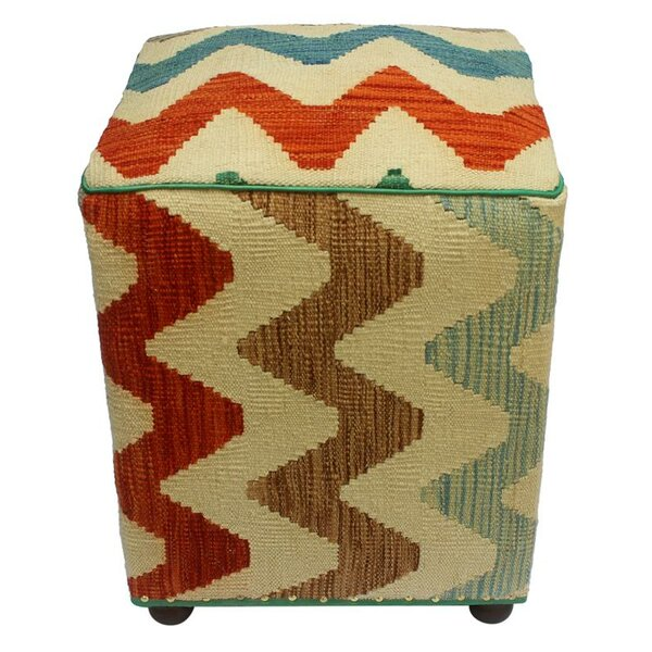 Stripling Kilim Cube Ottoman by Ebern Designs