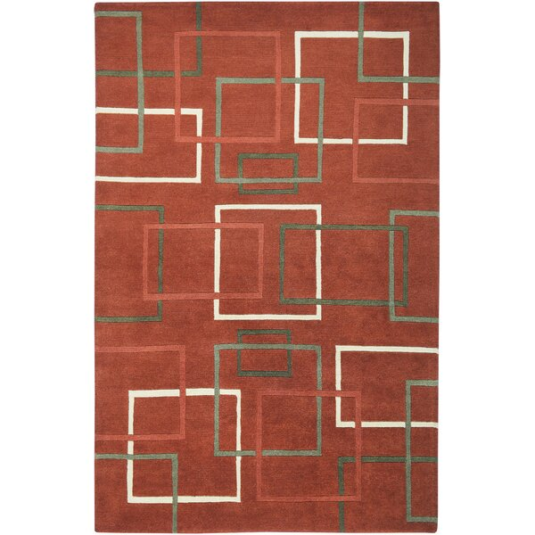 Senegal Hand-Knotted Rust Area Rug by Meridian Rugmakers