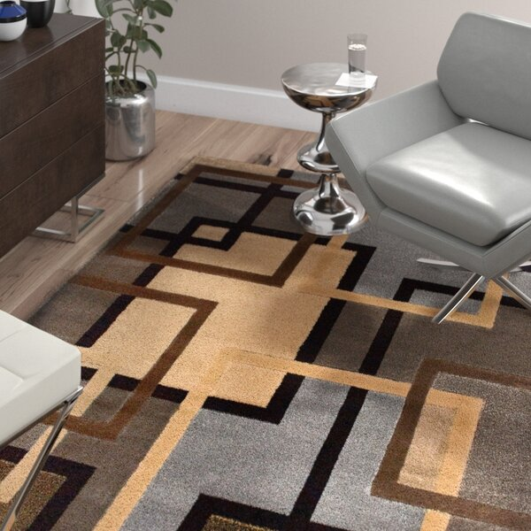 Ezekiel Brown/Gray Area Rug by Wade Logan