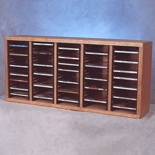 500 Series 100 CD Multimedia Tabletop Storage Rack by Wood Shed
