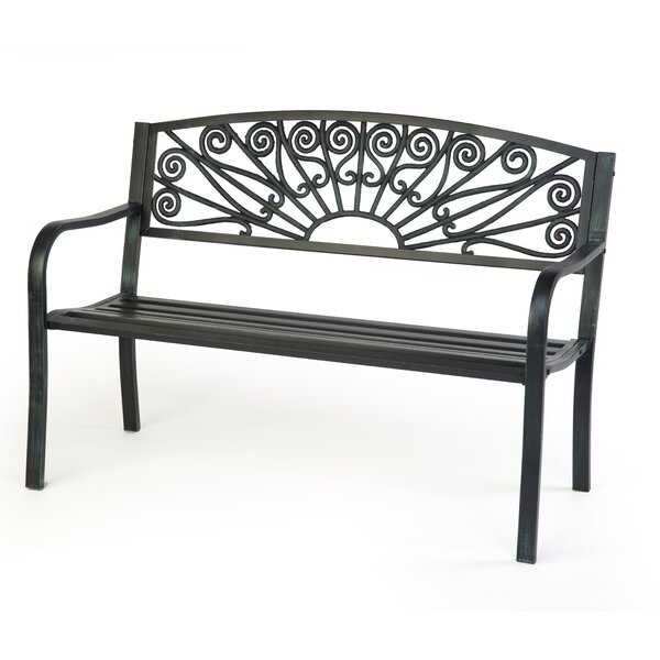 Steel Garden Bench by Trademark Innovations