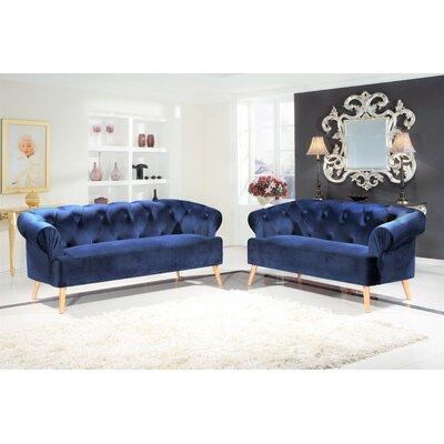 Excellent Aahil 2 Piece Living Room Set Mercer41 Upholstery Blue Ncnpc Chair Design For Home Ncnpcorg