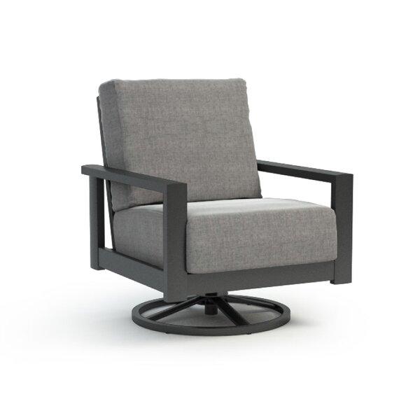 Trollinger Swivel Patio Chair with Sunbrella Cushion by Gracie Oaks