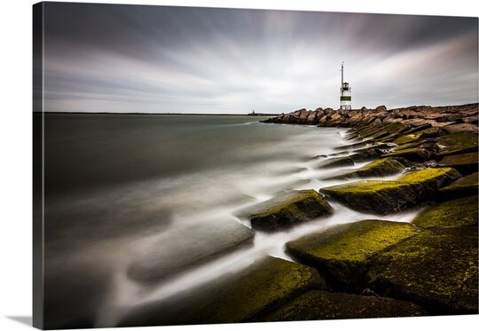 Ijmuiden Lighthouse by Sus Bogaerts Photographic Print on Canvas by Canvas On Demand