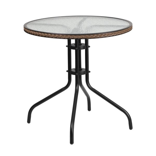 Meadowland Glass Dining Table by Charlton Home