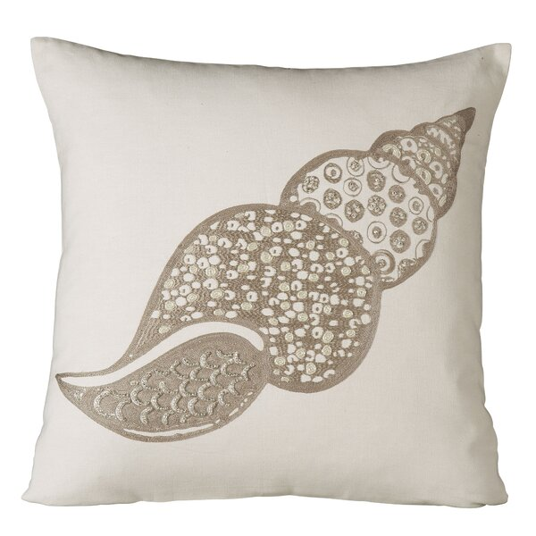 Marina Shell Embellished Pillow Cover by Birch Lane™