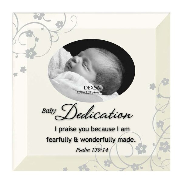 Simple Expressions Baby Dedication Beveled Glass Picture Frame by Dexsa