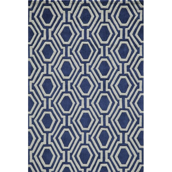 Wills Hand-Tufted Navy Area Rug by Wrought Studio