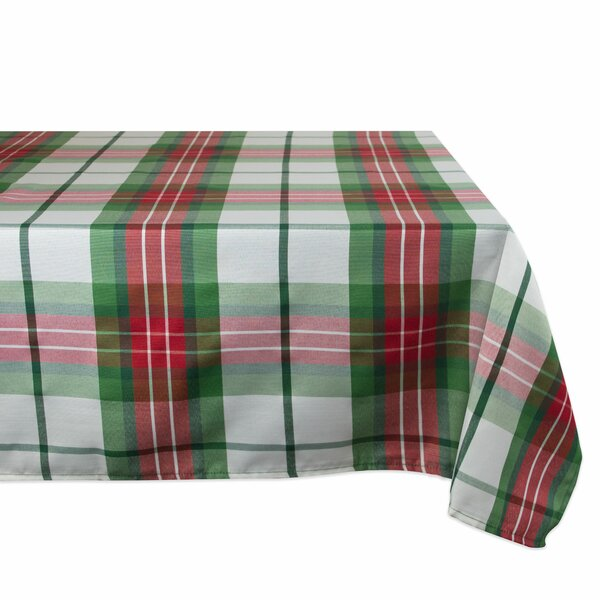 William Cozy Christmas Plaid Tablecloth by The Hol