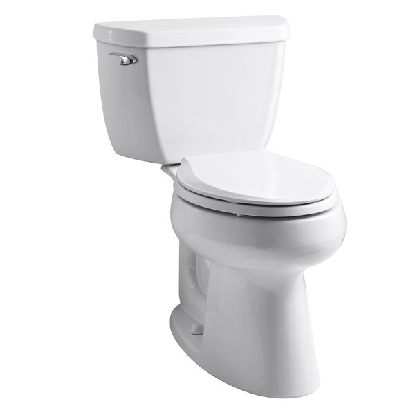 Highline Classic Comfort Height Two-Piece Elongated 1.28 GPF Toilet with Class Five Flush Technology and Left-Hand Trip Lever by Kohler