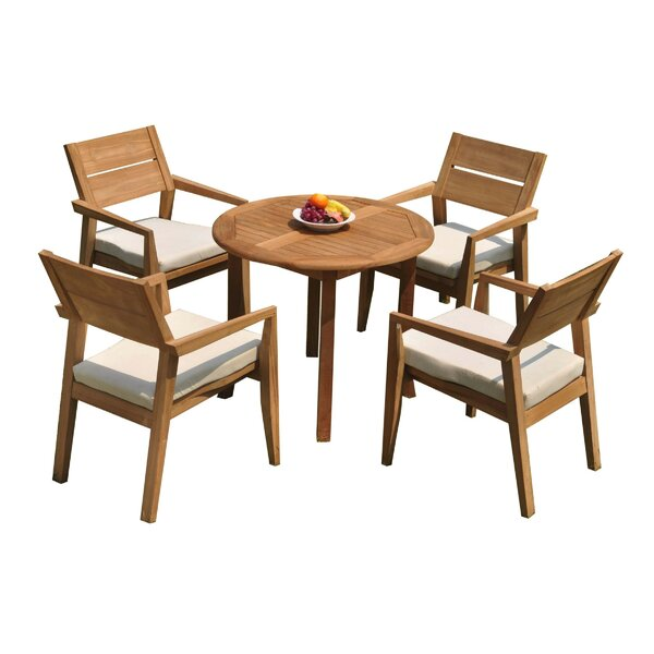 Maston 5 Piece Teak Dining Set by Rosecliff Heights