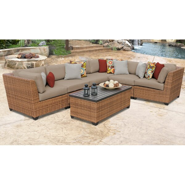Medina 7 Piece Sectional Seating Group with Cushions by Rosecliff Heights