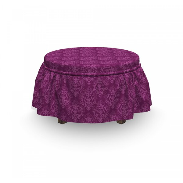Victorian Damask Classical Ottoman Slipcover (Set Of 2) By East Urban Home