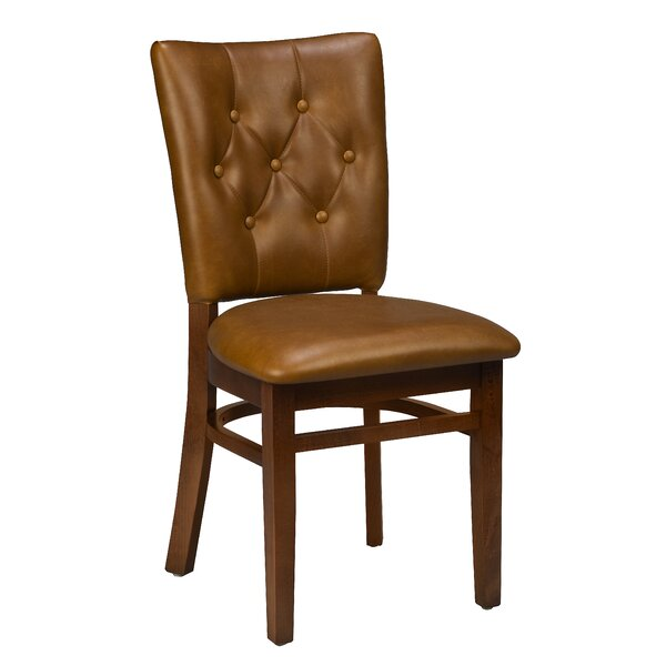Beechwood Button Tufted Upholstered Dining Chair by Regal Regal