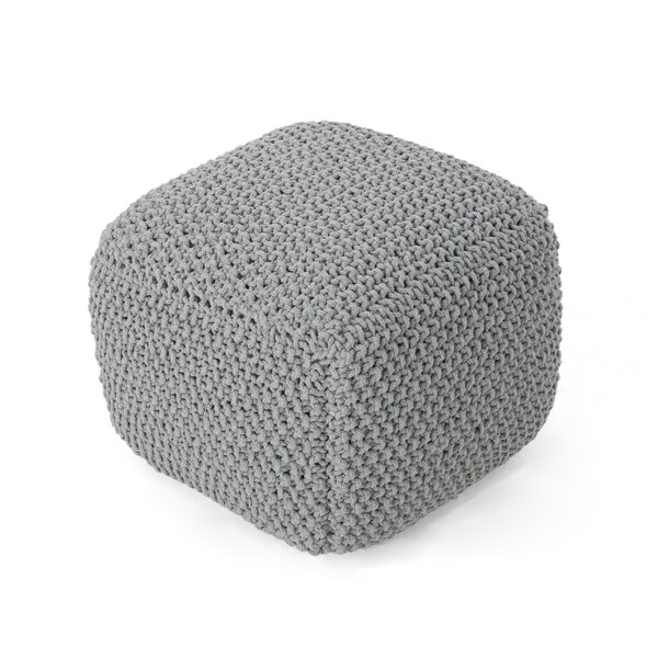 Grondin Knitted Pouf by Ebern Designs