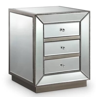 Lewisville 3 Drawer Nightstand by Everly Quinn