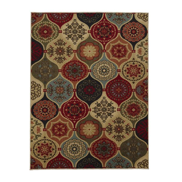 Arline Red/Yellow Indoor/Outdoor Area Rug by Winston Porter