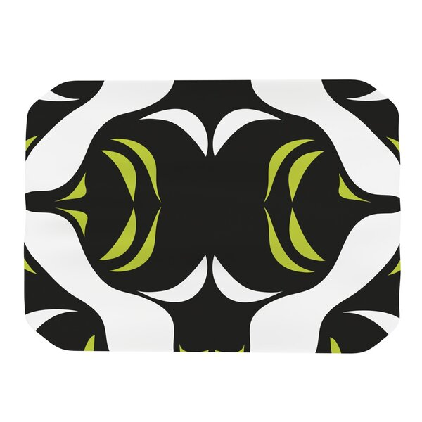 Green White Jaws Placemat by KESS InHouse