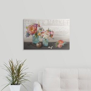 French Cottage Bouquet III by Danhui Nai Graphic Art on Wrapped Canvas by Great Big Canvas