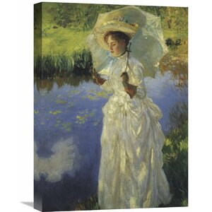 'A Morning Walk 1888' by John Singer Sargent Painting Print on Wrapped Canvas by Global Gallery