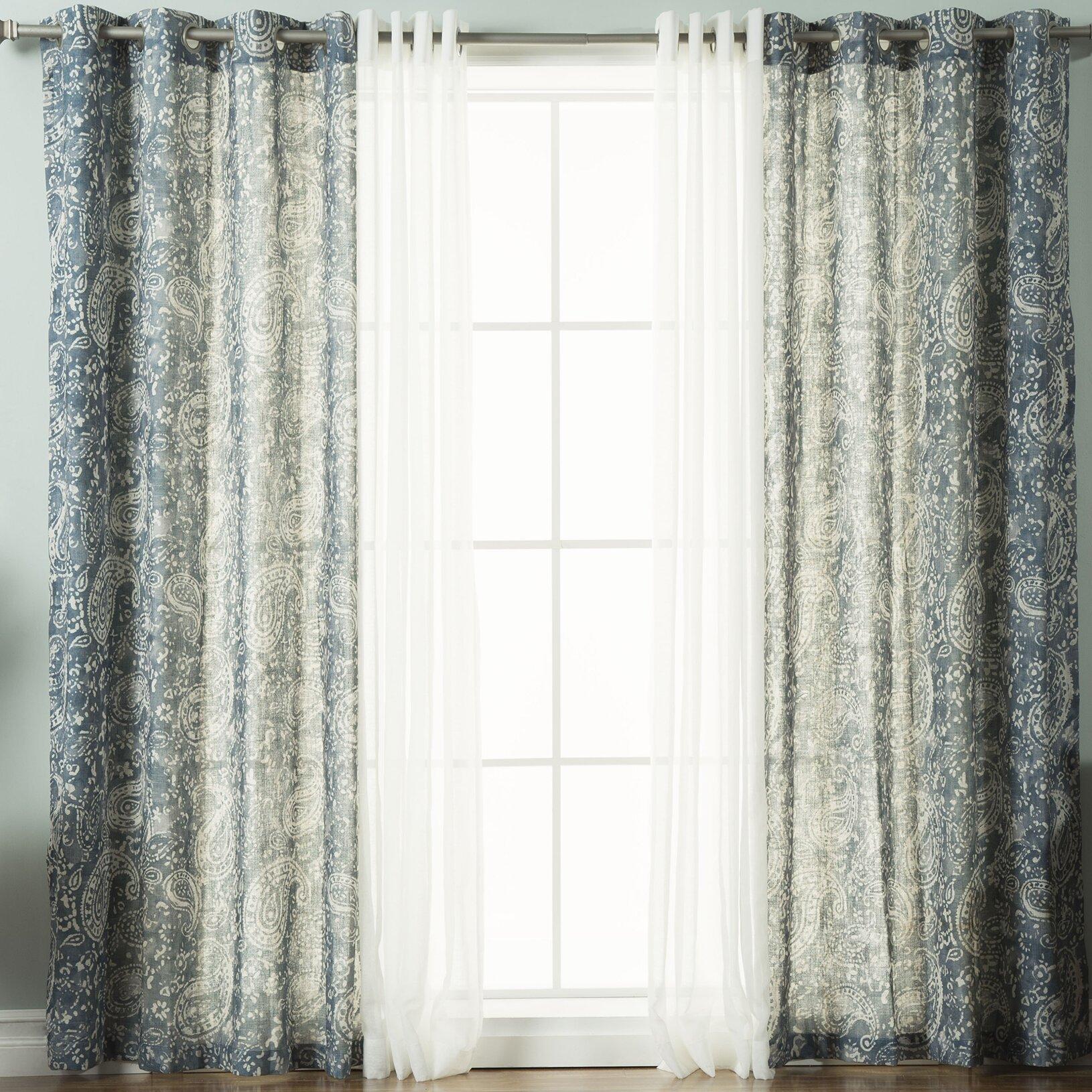 Rosendale Paisley Semi Sheer Grommet Curtain Panels Reviews Joss Main