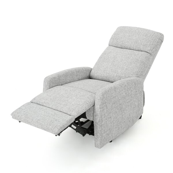 Bowman Fabric Power Push Button Recliner by Ivy Bronx
