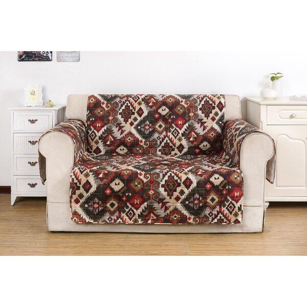 Folk Festival Rustic Box Cushion Loveseat Slipcover by Greenland Home Fashions