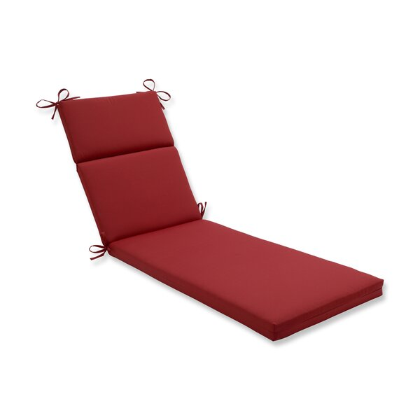 Solid Indoor/Outdoor Chaise Lounge Cushion by Pillow Perfect