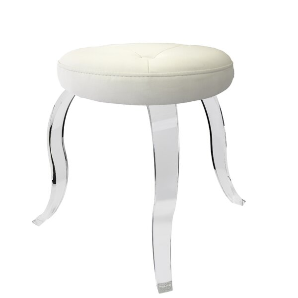 Cassidy Round Acrylic 3 Legged Vanity Stool by Mercer41