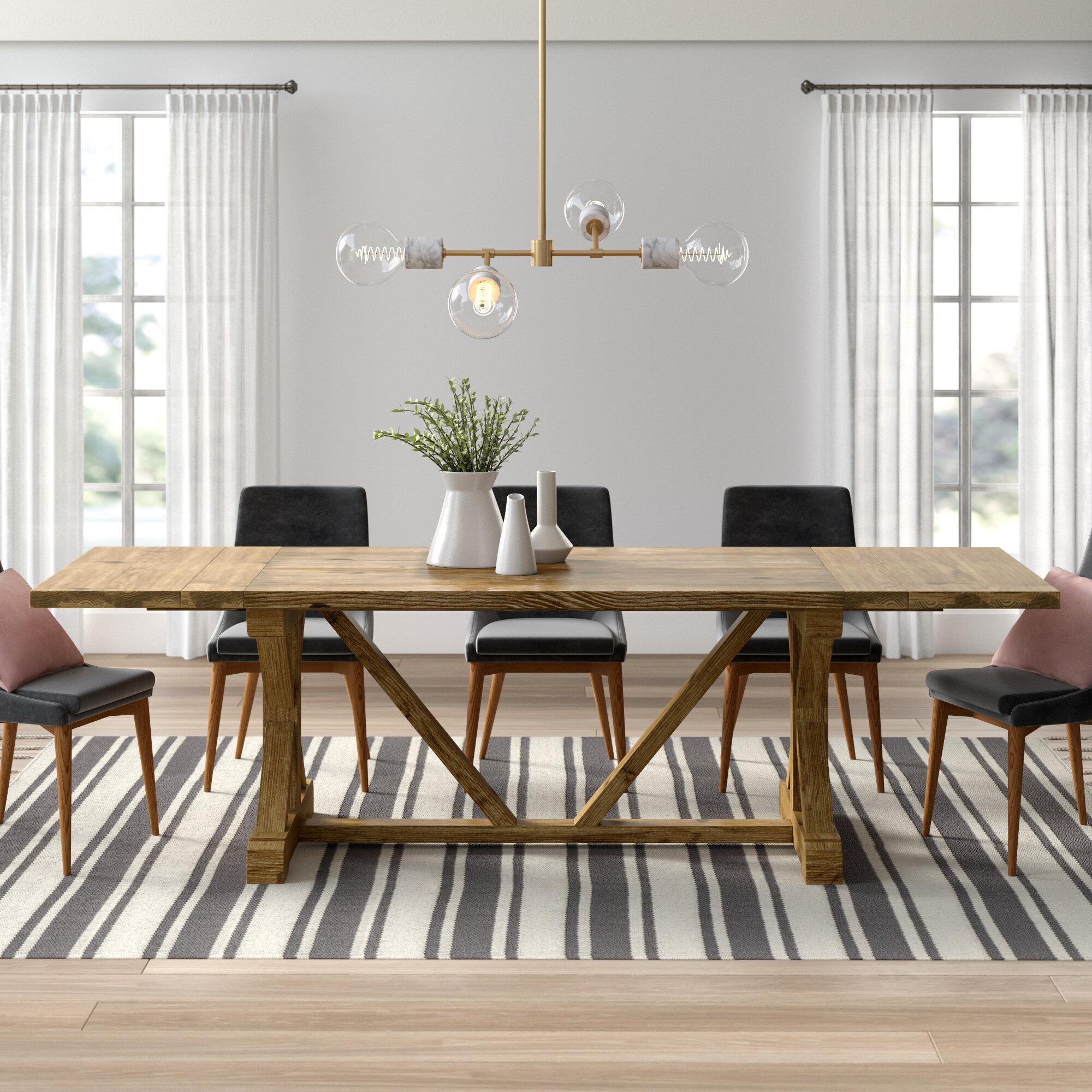 Excellent Camden Den Extendable Solid Wood Dining Table Machost Co Dining Chair Design Ideas Machostcouk