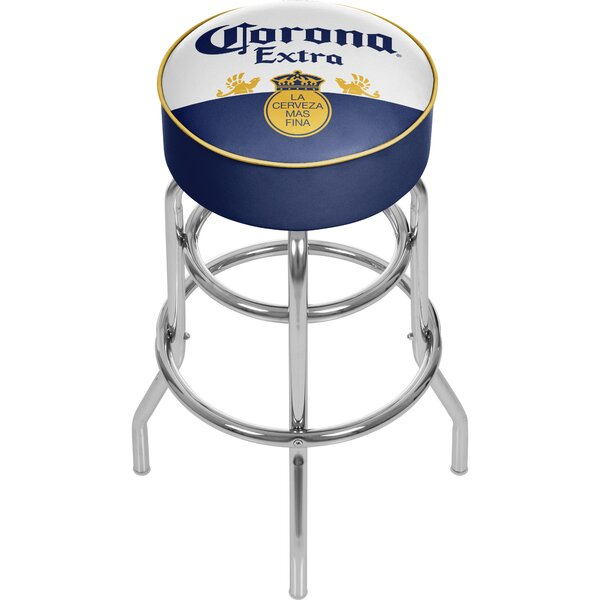 Corona 31 Swivel Bar Stool by Trademark Global